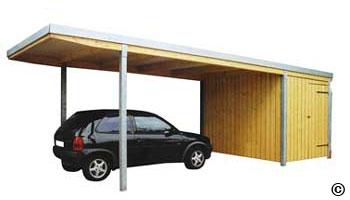 Carport Flachdach Mit Abstellraum